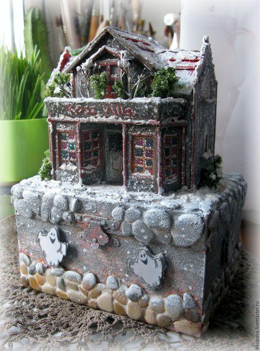"""Кукольный дом ручной работы. Ярмарка Мастеров - ручная работа. Купить Шкатулка """"Дом с привидениями"""". Handmade. Комбинированный, шкатулка, текстиль"""