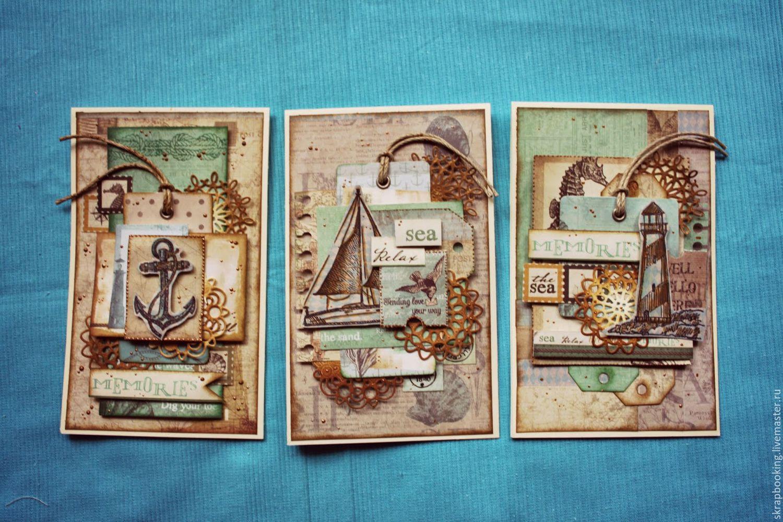 Открытки, открытки ручной работы с морской темой