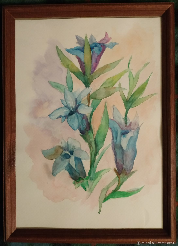 Синие цветы, Картины, Москва,  Фото №1