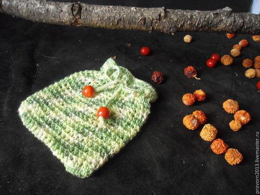 Подарочная упаковка ручной работы. Ярмарка Мастеров - ручная работа. Купить Мешочек вязанный Зеленый лес. Handmade. Мешочек для подарка