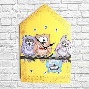 Для дома и интерьера handmade. Livemaster - original item Wall clock Owl House. Handmade.