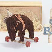 Куклы и игрушки ручной работы. Ярмарка Мастеров - ручная работа Старый слон Бо. Handmade.