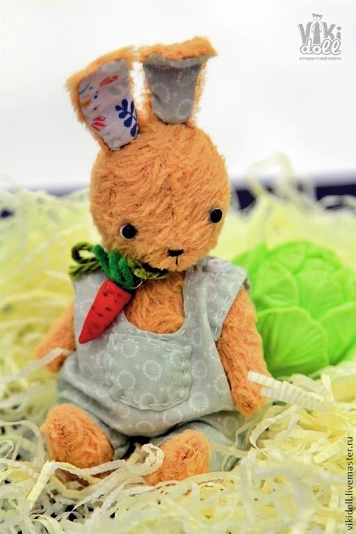 Мишки Тедди ручной работы. Ярмарка Мастеров - ручная работа. Купить Зайка Морковкин. Handmade. Лимонный, зайка в подарок