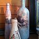 Декоративная стеклянная ваза для стилизации интерьера.  Предлагаю свои услуги по декорированию в цвете и стиле интерьера любых форм ваз и бутылок.