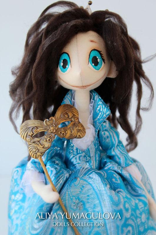 Коллекционные куклы ручной работы. Ярмарка Мастеров - ручная работа. Купить Принцесса Венди. Handmade. Голубой, тыквоголовка, коллекционная кукла