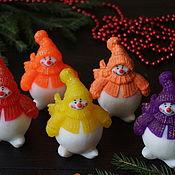Косметика ручной работы handmade. Livemaster - original item Soap Snowman, Puhler. Handmade.