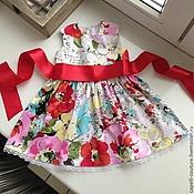Работы для детей, ручной работы. Ярмарка Мастеров - ручная работа Платье хлопковое для девочки. Handmade.