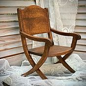 handmade. Livemaster - original item Furniture for dolls: Curule chair. Handmade.