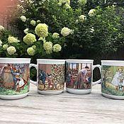 Винтаж handmade. Livemaster - original item Mugs