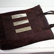 Винтаж ручной работы. Ярмарка Мастеров - ручная работа Винтажная сумка шопер из кусков натуральной замши и кожи. Handmade.
