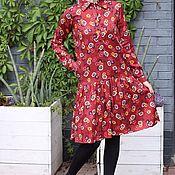 Одежда handmade. Livemaster - original item Ruffled EGGDRESS BOUQUET of FLOWERS shirt dress. Handmade.