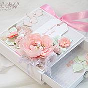 Свадебный салон ручной работы. Ярмарка Мастеров - ручная работа Свадебная коробочка для денежного подарка с открыткой. Handmade.