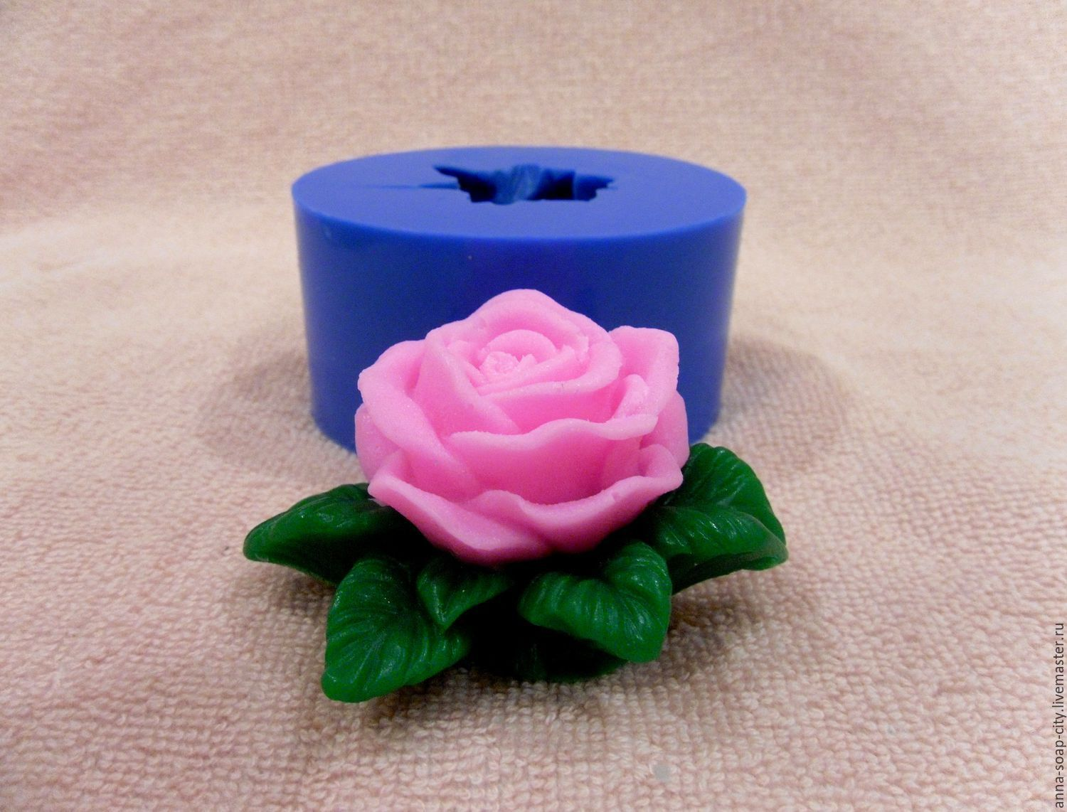 Silicone mold for soap and candles ' rosette', Form, Arkhangelsk,  Фото №1