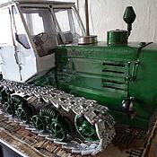 Куклы и игрушки ручной работы. Ярмарка Мастеров - ручная работа Игрушка-модель советского трактора Т-150. Handmade.
