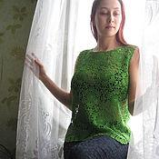 "Одежда ручной работы. Ярмарка Мастеров - ручная работа топ ""Малахитовый сон"". Handmade."