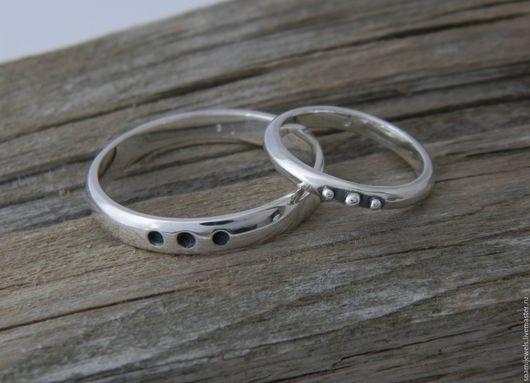Кольца ручной работы. Ярмарка Мастеров - ручная работа. Купить Обручальные кольца ИньЯн, серебро 925 пробы. Handmade. Кольцо