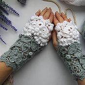 Аксессуары handmade. Livemaster - original item Irish lace. Mitts