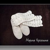 Обувь ручной работы handmade. Livemaster - original item Knitted shoes. Summer knitted boots. Boots. Knitting.. Handmade.