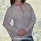 Льняная блуза с ручной вышивкой Лилия.\r\n\r\nТворческое ателье Modne-Narodne. Модная одежда с ручной вышивкой.