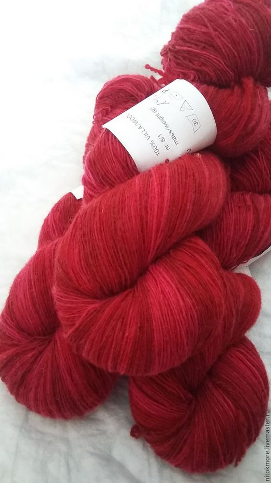 Вязание ручной работы. Ярмарка Мастеров - ручная работа. Купить Кауни Red2 8/1. Handmade. Комбинированный, шерсть, тонкая шерсть