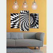 Картины и панно handmade. Livemaster - original item triptych Illusion. Handmade.