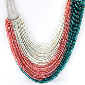 Украшения handmade. Livemaster - original item Morning star choker with beaded strands. Handmade.