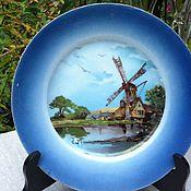 Винтаж handmade. Livemaster - original item Plate decorative, hand painted (Holland), rarity.. Handmade.