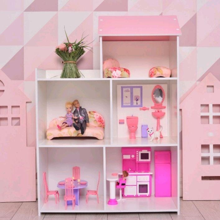 Кукольный домик стеллаж шкаф деревянный для игрушек кукол, Кукольные домики, Иваново,  Фото №1
