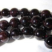 Материалы для творчества handmade. Livemaster - original item Garnet beads, natural 10mm. Handmade.