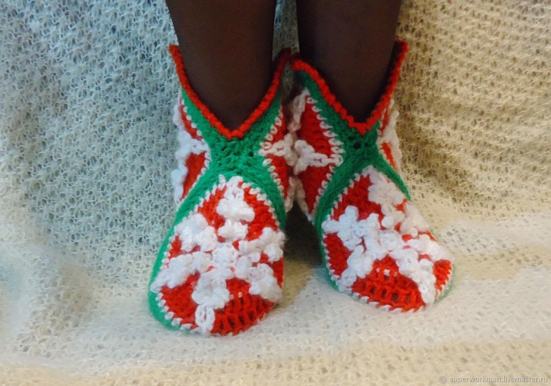 fb8a1c699c319 Обувь ручной работы. Ярмарка Мастеров - ручная работа. Купить Сапожки  вязанные 'Снежинка' ...