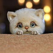 Куклы и игрушки ручной работы. Ярмарка Мастеров - ручная работа Котик в берете .. Handmade.