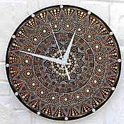 Для дома и интерьера handmade. Livemaster - original item Wall Clock Mandala Dot Painting. Handmade.
