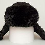Аксессуары ручной работы. Ярмарка Мастеров - ручная работа Меховая шапка ушанка из кролика «Реал». Handmade.