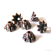 Материалы для творчества handmade. Livemaster - original item Cap beads copper end. Handmade.