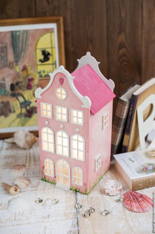 Освещение ручной работы. Ярмарка Мастеров - ручная работа. Купить Pink. Розовый Домик.Светильник-ночник для настоящей Алисы :). Handmade.