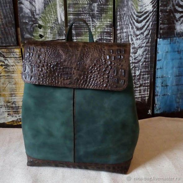 Backpacks handmade. Livemaster - handmade. Buy Backpack women's leather green.Backpack, backpack leather, backpack for the city