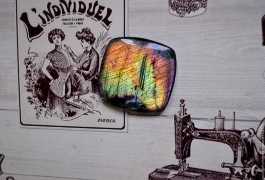 Для украшений ручной работы. Ярмарка Мастеров - ручная работа. Купить Лабрадорит спектролит. Кабошон 40 Х 40 Х 5.5. Handmade.