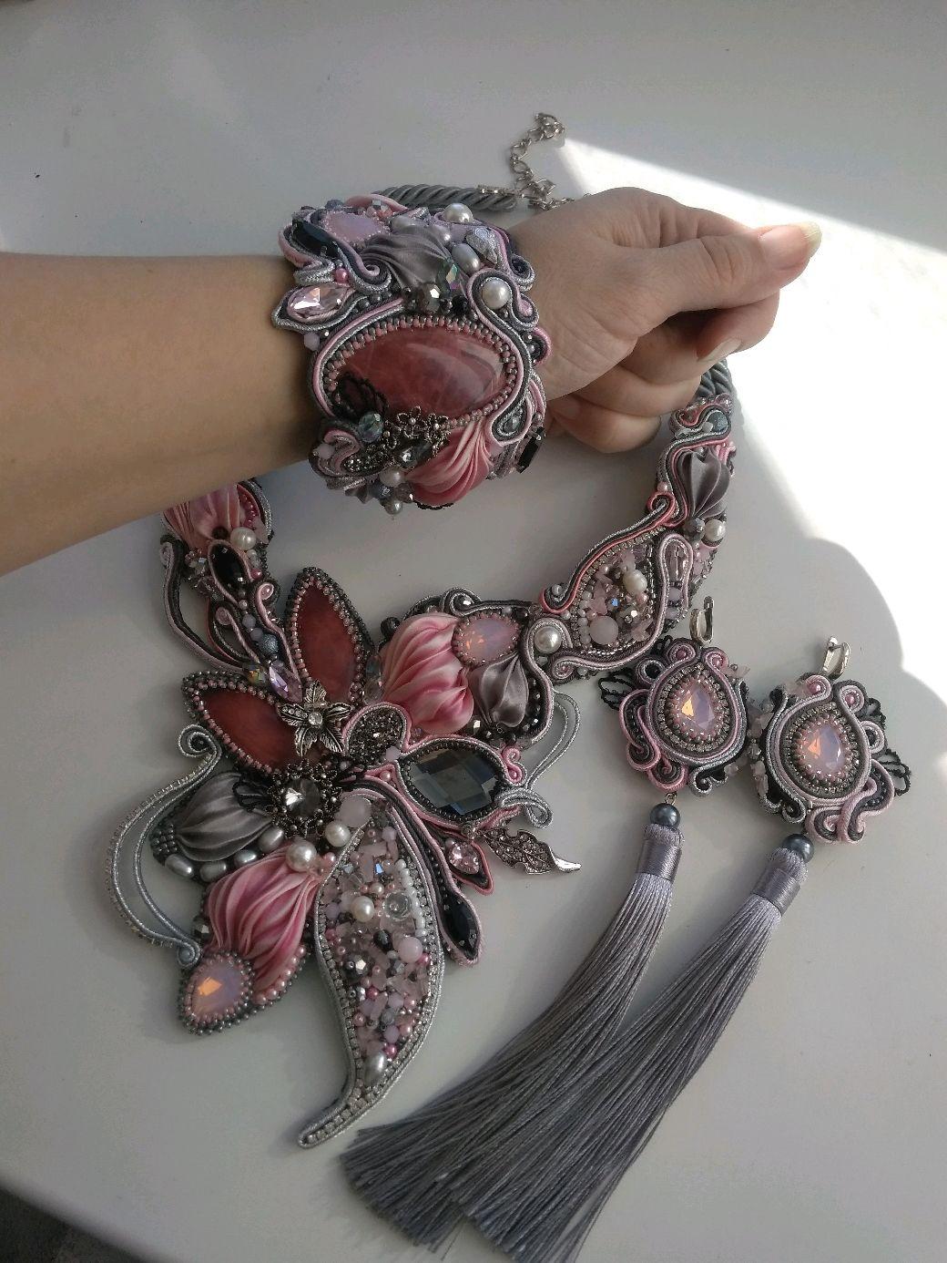 Kit pink-grey Options, Jewelry Sets, Blagoveshchensk,  Фото №1
