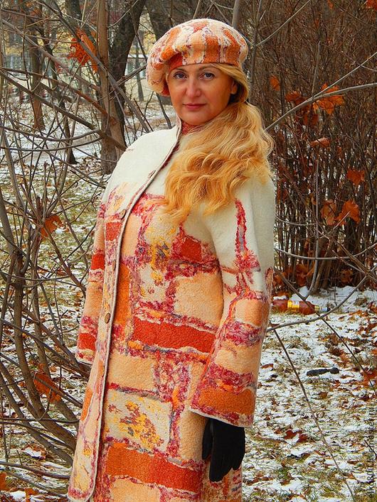 """Верхняя одежда ручной работы. Ярмарка Мастеров - ручная работа. Купить Пальто """"Солнце Прованса"""". Handmade. Пальто, бохо, шерсть"""