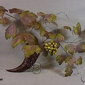 """Цветы и флористика ручной работы. Ярмарка Мастеров - ручная работа Интерьерная композиция лоза винограда """"Мускат"""". Handmade."""