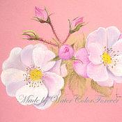 Картины и панно ручной работы. Ярмарка Мастеров - ручная работа Картина пастелью Дачные розы. Handmade.