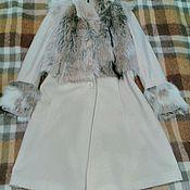 Одежда ручной работы. Ярмарка Мастеров - ручная работа Пальто с меховой отделкой. Handmade.