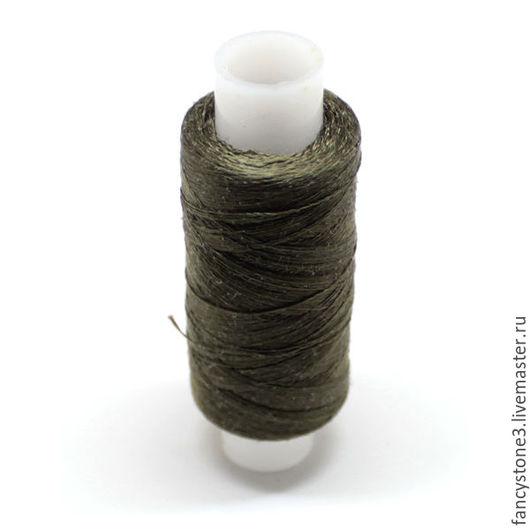 Для украшений ручной работы. Ярмарка Мастеров - ручная работа. Купить Нити шелковые 33А для вышивки Цвет хаки. Handmade.