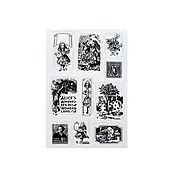Материалы для творчества ручной работы. Ярмарка Мастеров - ручная работа Набор силиконовых штампов Алиса в стране Чудес. Handmade.