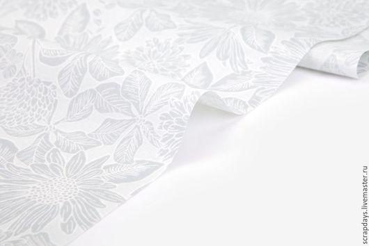 Шитье ручной работы. Ярмарка Мастеров - ручная работа. Купить Ткань Dailylike «Mono flower:mono flower». Handmade. Серый