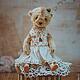 Мишки Тедди ручной работы. Mademoiselle Мишель и Мари... Елена Пономаренко. Интернет-магазин Ярмарка Мастеров. Мишка в одежке, француженка