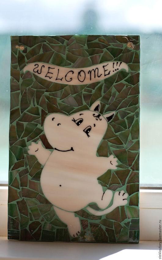 """Элементы интерьера ручной работы. Ярмарка Мастеров - ручная работа. Купить Табличка на дом, на вход в дом """"Муми Welcome"""". Handmade."""