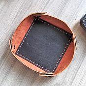 Аксессуары ручной работы. Ярмарка Мастеров - ручная работа Аксессуары: Кожаная тарелка для ключей и карманных мелочей. Handmade.
