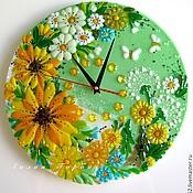 Для дома и интерьера ручной работы. Ярмарка Мастеров - ручная работа часы из стекла, фьюзинг  Лето - это маленькая жизнь. Handmade.