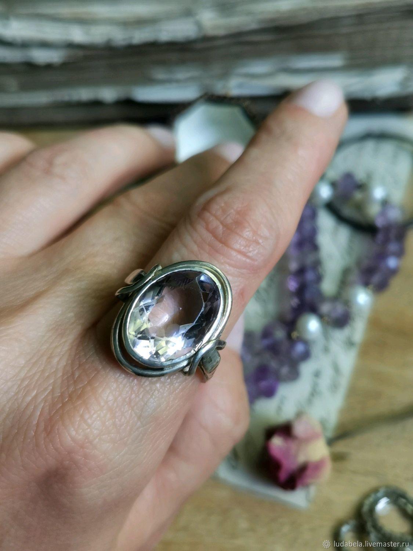 Винтаж: Размер 19.8 Восхитительный серебряный перстень с нежным аметистом, Кольца винтажные, Геттинген,  Фото №1